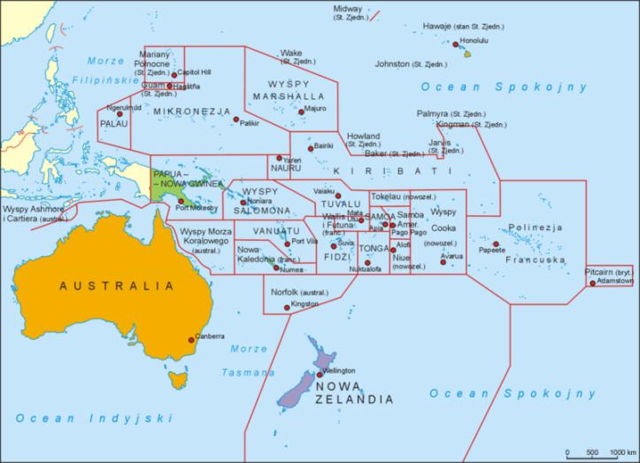 oceania mapa